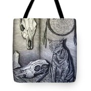 Visions Of Stimus The Cat Tote Bag