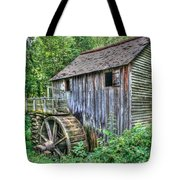 Visiting The Old Mill Tote Bag