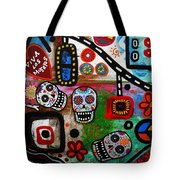 Viva Tres Muertos Tote Bag