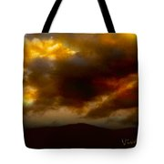 Vivachas Golden Hour Sunset Glowing Clouds  Tote Bag