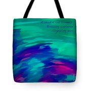Vivid Wind Haiku Tote Bag