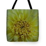 Vivid Yellow Dahlia Tote Bag