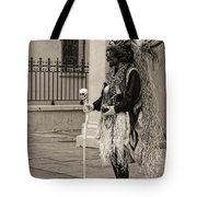 Voodoo Man In Jackson Square New Orleans- Sepia Tote Bag