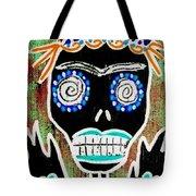 Voodoo Queen Sugar Skull Angel Tote Bag