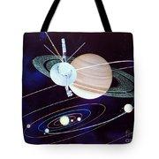Voyager Saturn Flyby Artwork Tote Bag