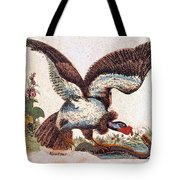 Vulture Attacking A Snake Tote Bag