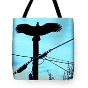 Vulture On Phone Pole Tote Bag