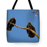 Vultures On A Branch Tote Bag