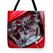 Vw Beetle With Chrome Engine Tote Bag by Kaye Menner