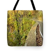W Road In Autumn Tote Bag