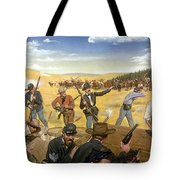 Wagon Box Fight, 1867 Tote Bag
