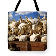 Wagon Full Of Animal Skulls Tote Bag by Garry Gay