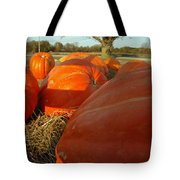 Wagon Ride For Pumpkins Tote Bag