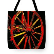 Wagon Wheel In Red Tote Bag