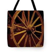 Wagon Wheel In Sepia Tote Bag