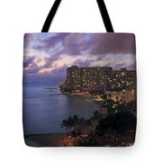 Waikiki At Night Tote Bag