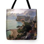 Waikiki At Twilight Tote Bag