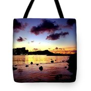 Waikiki Lagoon Dawn Tote Bag