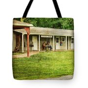 Waiting By The General Store Tote Bag by Paul Ward