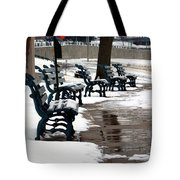Waiting For Clear Skies Tote Bag