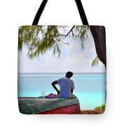 Waiting For Her Ship To Come In Tote Bag by Li Newton