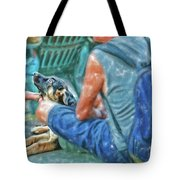Waiting For The Parade Watercolor Tote Bag
