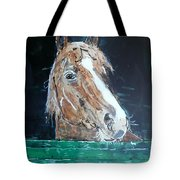 Waiting - Horse Portrait Tote Bag