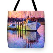 Waiting In The Harbor Tote Bag