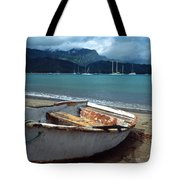 Waiting To Row In Hanalei Bay Tote Bag
