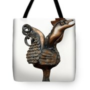 Wakeup Call Rooster Image 2 Bronze Sculpture With Beak Feathers Tail Brass And Opaque Surface  Tote Bag
