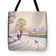 Walk In The Snow Tote Bag by Lavinia Hamer