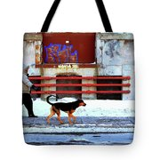 Walk On The Cold Side Tote Bag