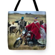 Walk Through The Highlands. Republic Of Bolivia.  Tote Bag
