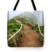 Walking Into The Clouds Tote Bag by Gaspar Avila