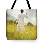 Walking On The Meadow Tote Bag