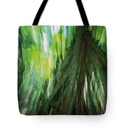 Walking Palm Socratea Exorrhiza Showing Tote Bag