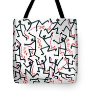 Walking The Dogs - Dec Two K Eleven Tote Bag