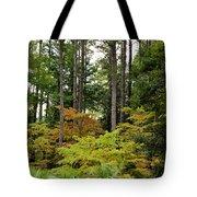 Walking Through An Autumn Garden Tote Bag