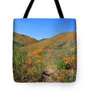 Walking Thru The Wildflowers Tote Bag
