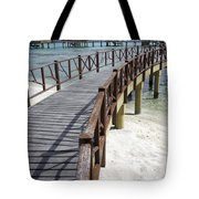 Walkway To Holiday Huts Over Lagoon Tote Bag