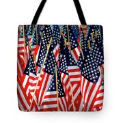 Wall Of Us Flags Tote Bag