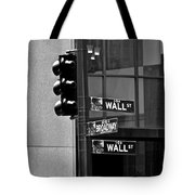 Wall Street And Broadway Tote Bag