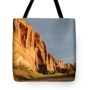 Wall Street Cliff Near Moab Tote Bag by Gary Whitton