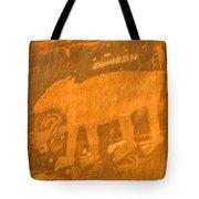 Wall Street Cliffs Petroglyph - Moab Tote Bag