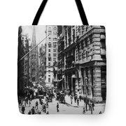 Wall Street Looking Toward Old Trinity Church - New York City - C 1910 Tote Bag
