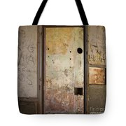 Walls With Graffiti In An Abandoned House. Tote Bag