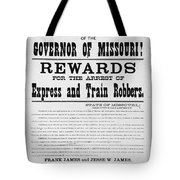 Wanted Poster, 1881 Tote Bag