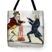 War Of 1812: Cartoon, 1813 Tote Bag