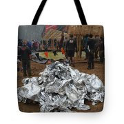 Warm Blankets Piled Tote Bag