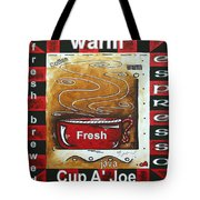 Warm Cup Of Joe Original Painting Madart Tote Bag